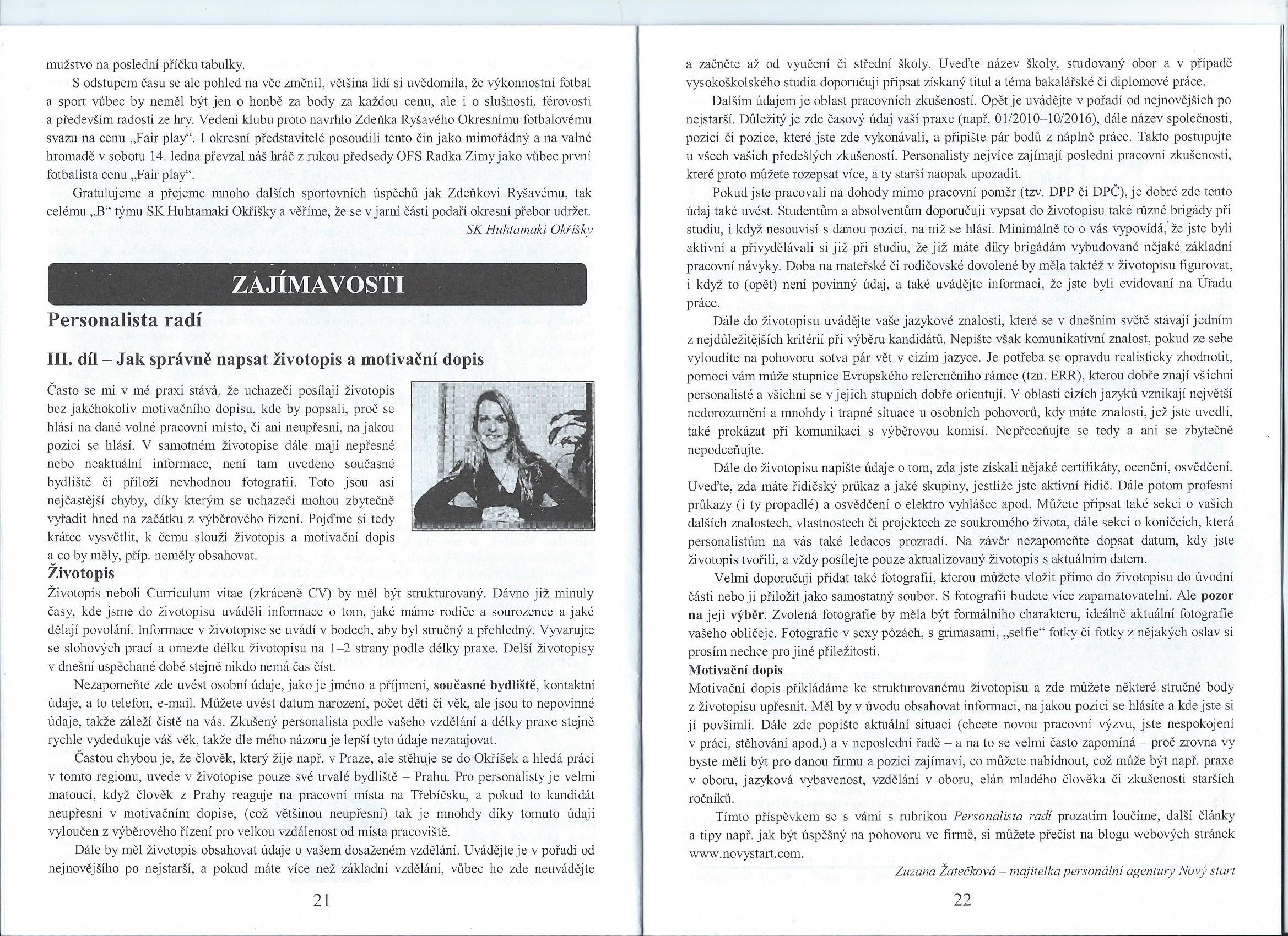 Jak správně napsat životopis a motivační dopis